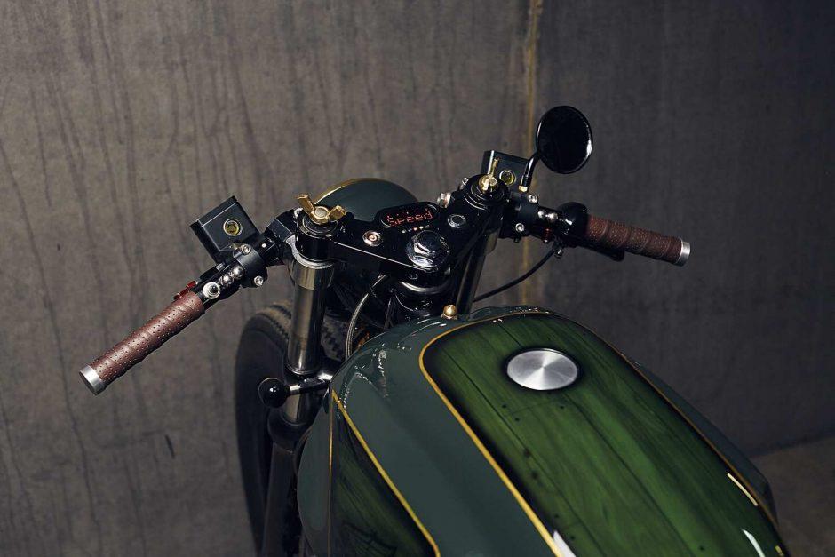 PopBang Classics Green Honda CX500 Custom Cafe Racer